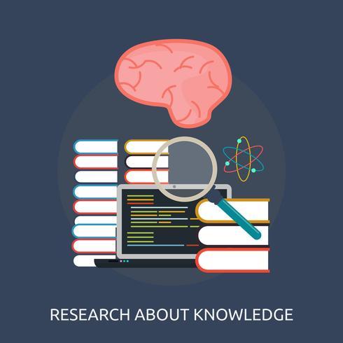 Disegno concettuale dell'illustrazione di conoscenza di ricerca vettore