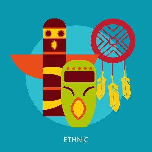 Design illustrazione etnica concettuale vettore