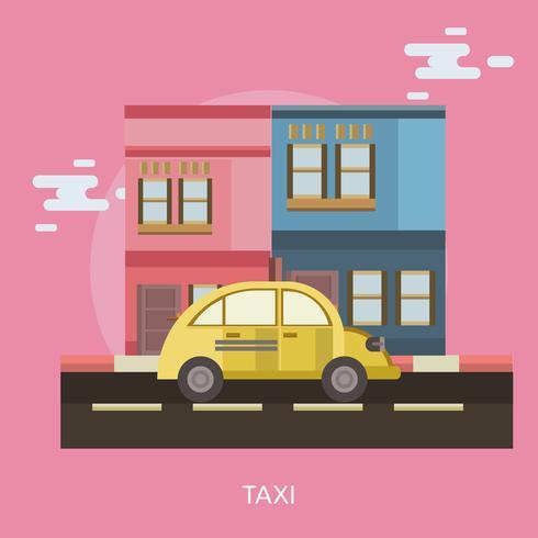 Taxi Design illustrazione concettuale vettore