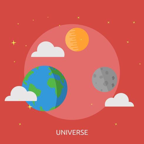 Disegno dell'illustrazione concettuale dell'universo vettore