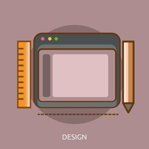 Design concettuale illustrazione design vettore