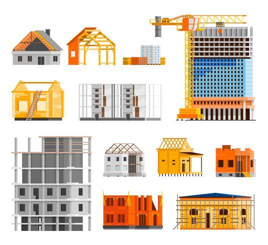 Set di icone di costruzione vettore