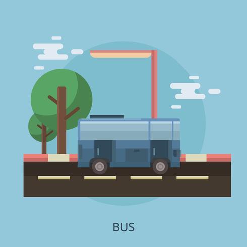 Bus design illustrazione concettuale vettore
