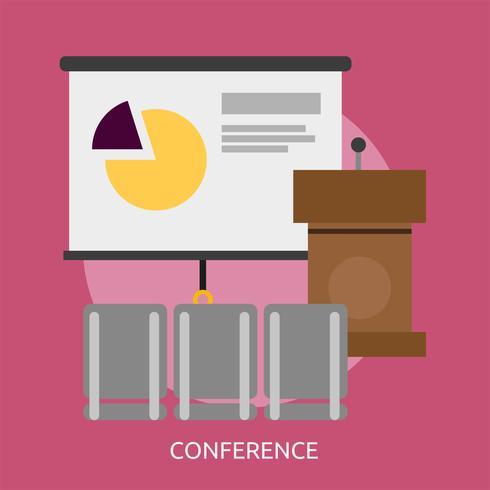 Progettazione dell'illustrazione concettuale di conferenza vettore