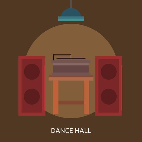 Progettazione concettuale dell'illustrazione di Dance Hall vettore