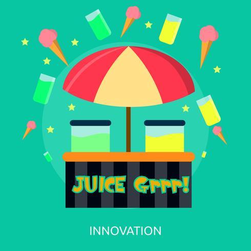 Progettazione dell'illustrazione concettuale dell'innovazione vettore