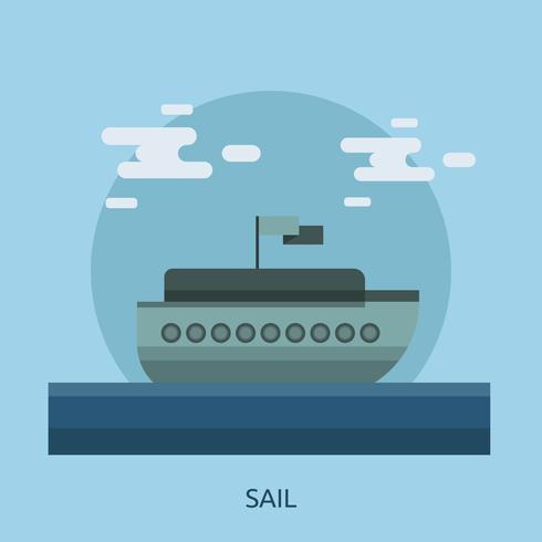 Vela progettazione illustrazione concettuale vettore