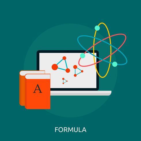 Progettazione dell'illustrazione concettuale di formula vettore