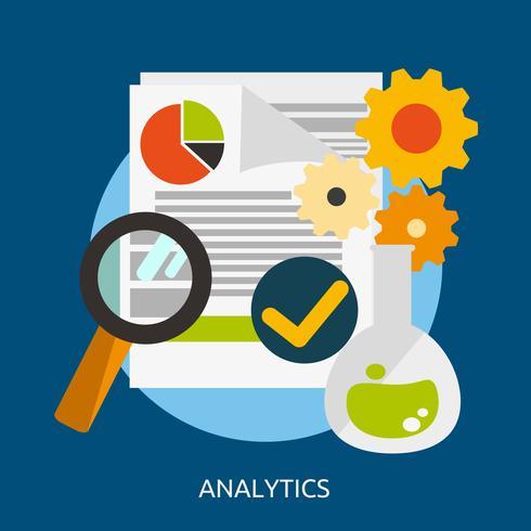 Progettazione concettuale dell'illustrazione di analisi dei dati vettore