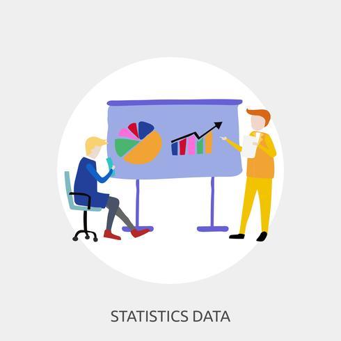Disegno concettuale dell'illustrazione di dati di statistiche vettore