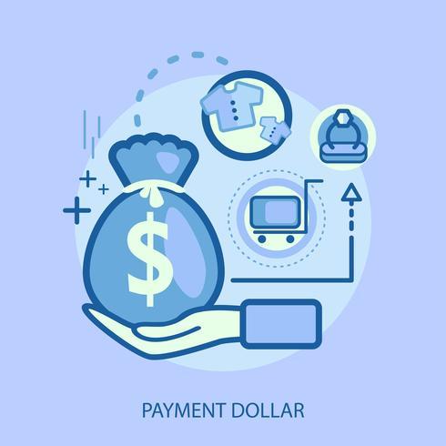 Disegno concettuale dell'illustrazione del dollaro di pagamento vettore