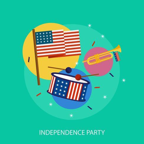 Progettazione concettuale dell'illustrazione del partito di indipendenza vettore
