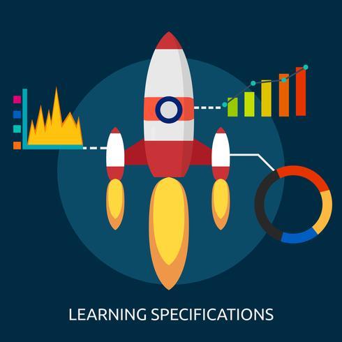Apprendimento specifiche Design illustrazione concettuale vettore