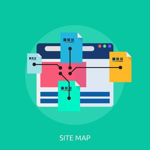 Design concettuale dell'illustrazione di SiteMap vettore