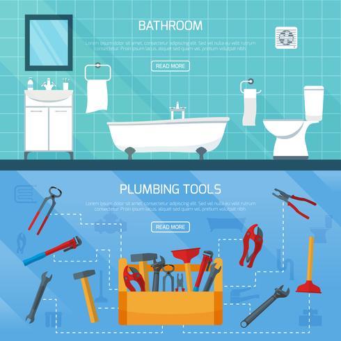 Set di striscioni sanitari per bagno vettore