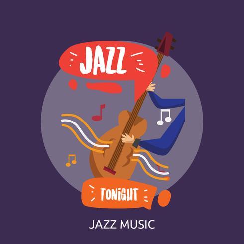 Disegno dell'illustrazione concettuale di musica di jazz vettore