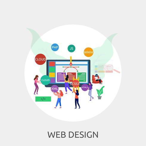 Progettazione dell'illustrazione concettuale di web design vettore