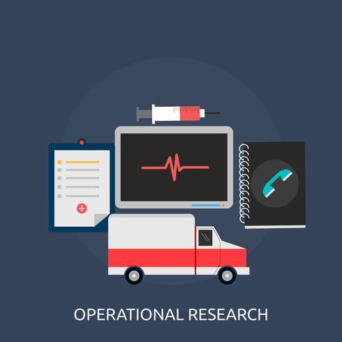 Progettazione concettuale dell'illustrazione di ricerca operativa vettore