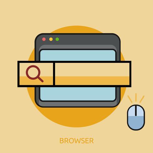 Progettazione concettuale dell'illustrazione di progettazione concettuale del browser vettore