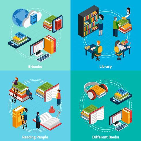 Libreria isometrica 2x2 Composizioni vettore
