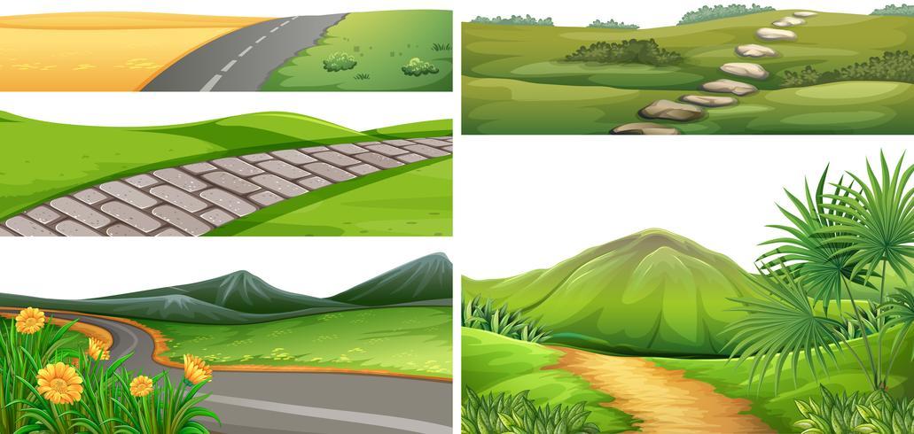 Un paesaggio del parco naturale vettore