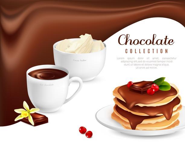 Poster di cioccolato vettore