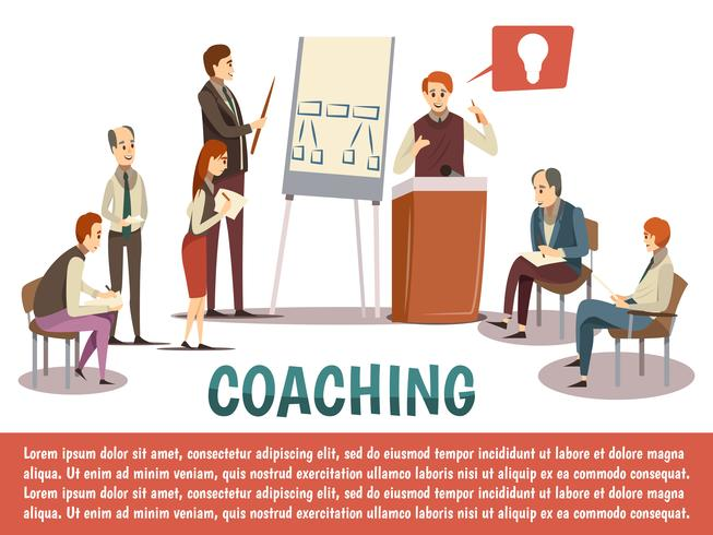 Sfondo di Business Coaching vettore