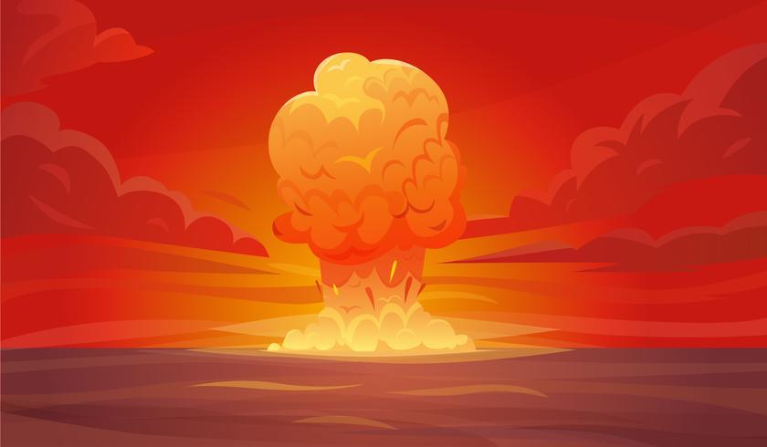 Composizione di esplosione nucleare vettore