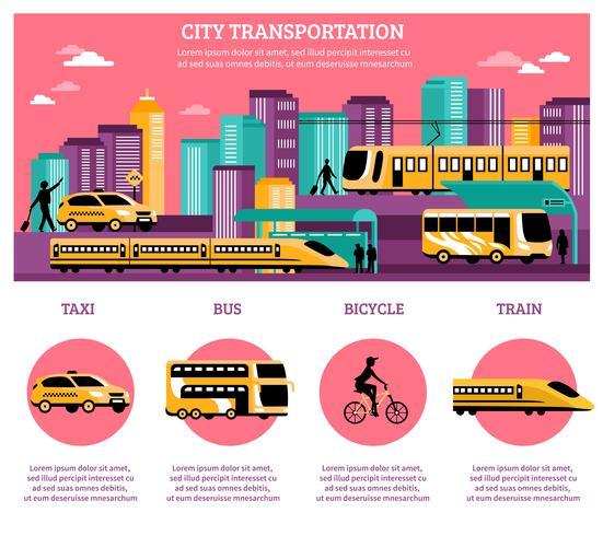 Layout di infografica di trasporto città vettore