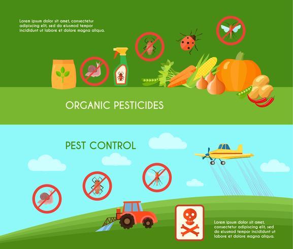 Set di banner di controllo dei parassiti vettore