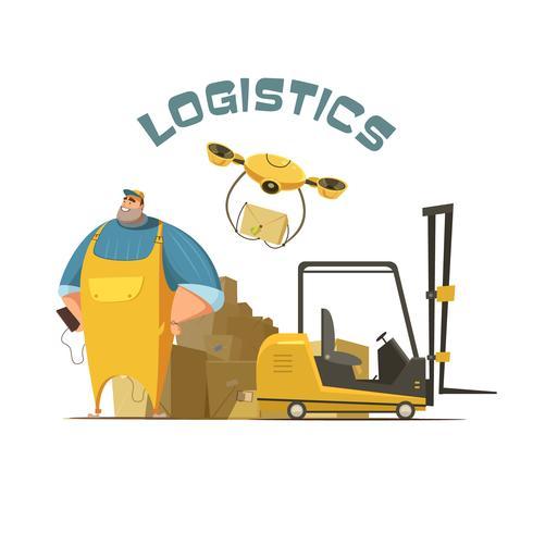 Illustrazione di concetto di logistica vettore