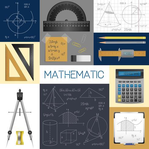 Concetto di scienze matematiche vettore