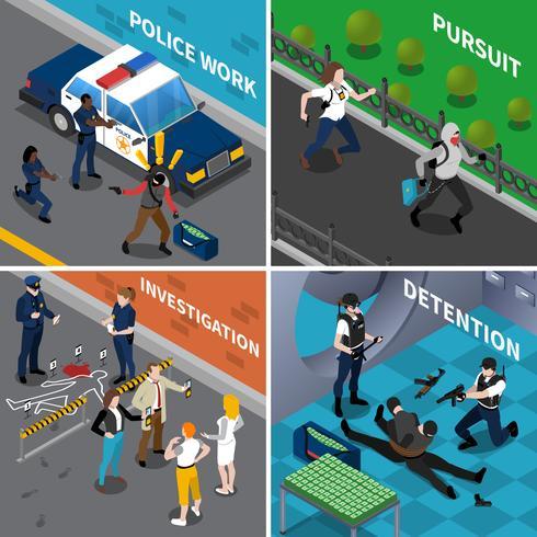 Concetto di lavoro di polizia vettore