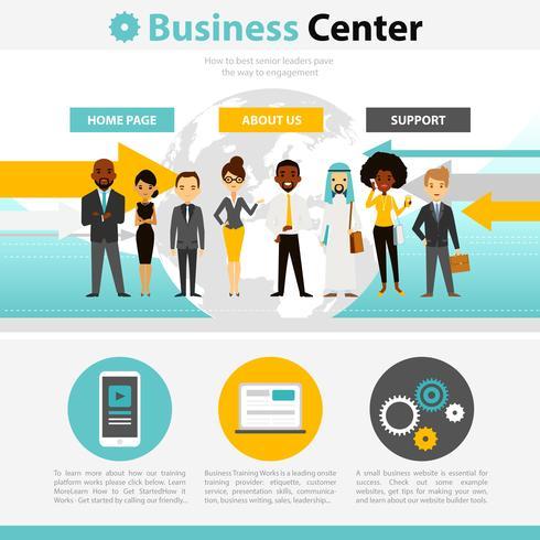 Infografica di pagina Web di formazione aziendale vettore