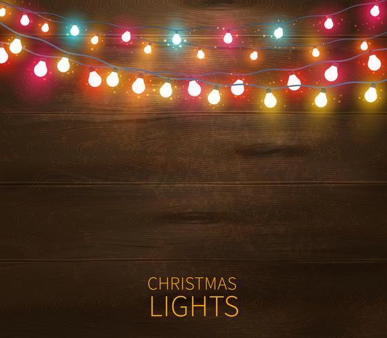 Poster di luci natalizie vettore