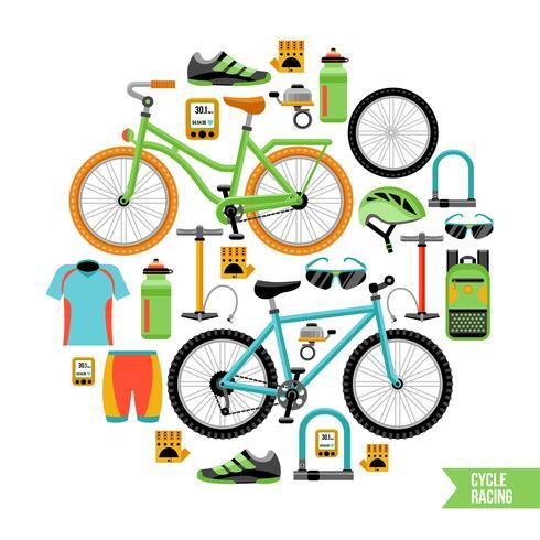 Concetto di design della bicicletta vettore
