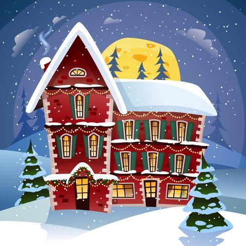 Manifesto di notte di Natale vettore