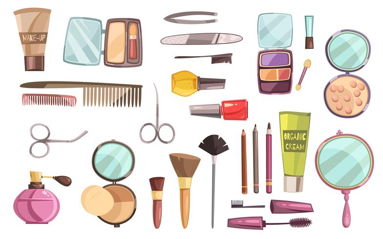 Top Cosmetics Set vettore