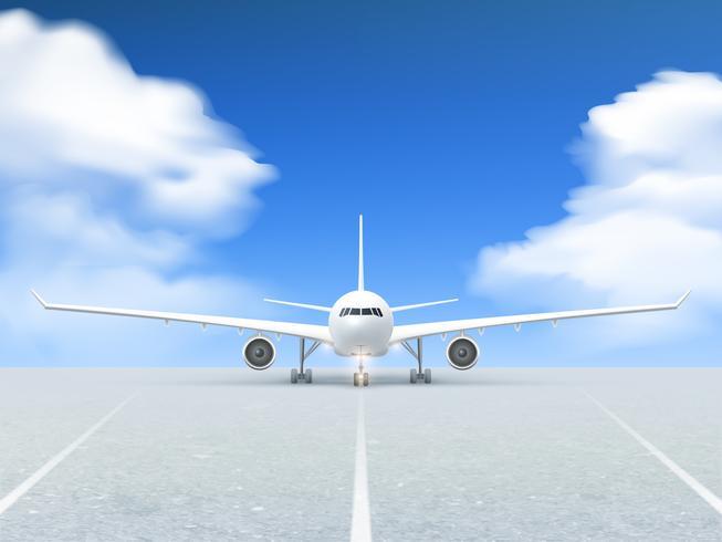 Poster della pista dell'aeroplano vettore