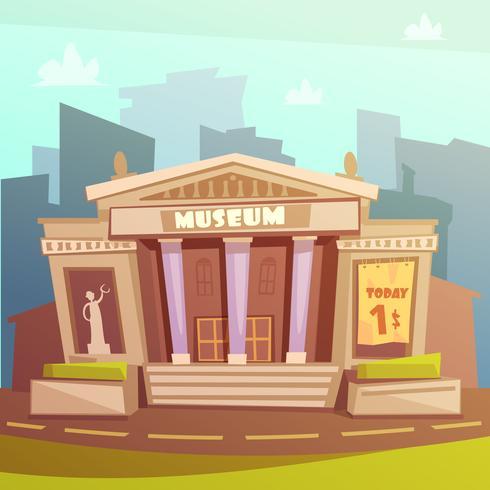 Illustrazione del fumetto del museo vettore