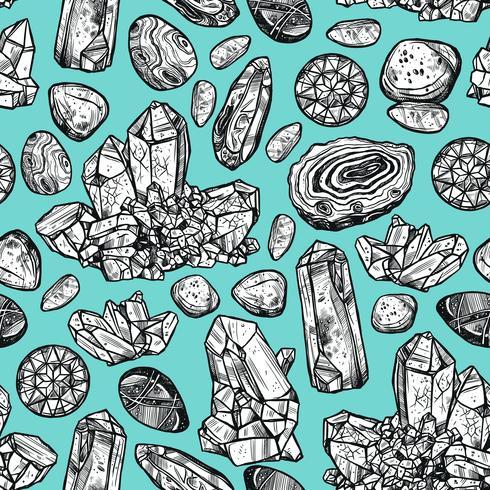 Pietre cristallo senza cuciture vettore