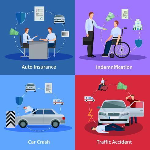 Concetto di assicurazione auto vettore