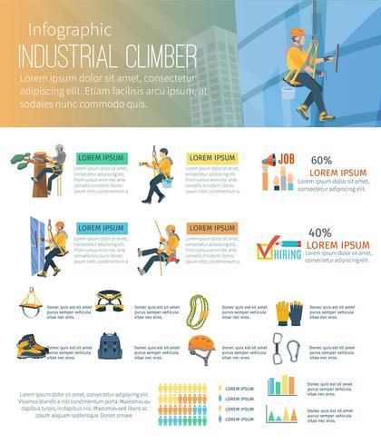 Illustrazione di scalatore di infografica vettore