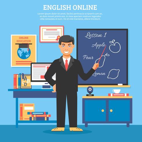 Illustrazione di formazione di formazione online vettore
