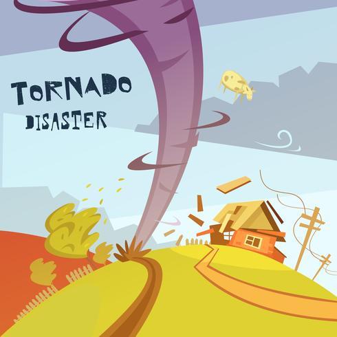 Illustrazione di disastro di tornado vettore