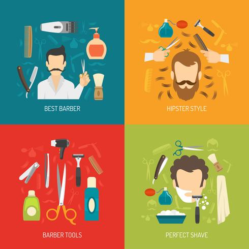servizio barbiere vettore