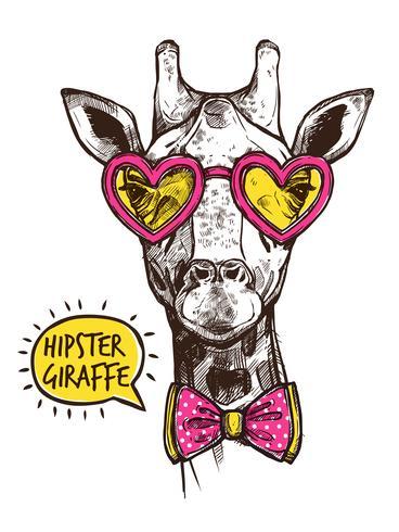 Poster di animali hipster vettore