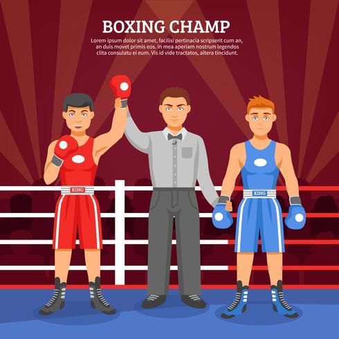 Composizione di boxe Champ vettore