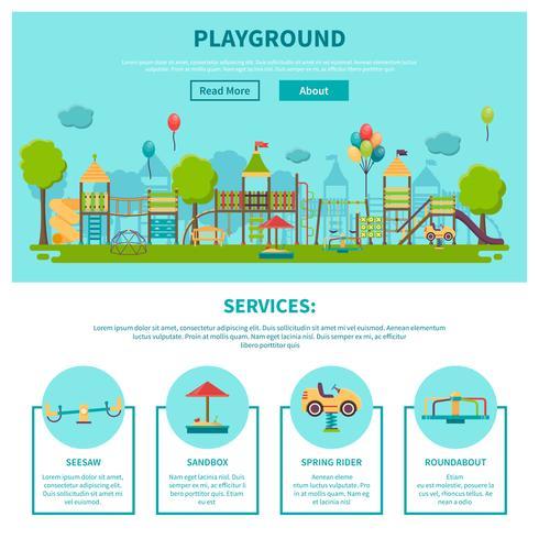 Illustrazione di parco giochi all'aperto vettore