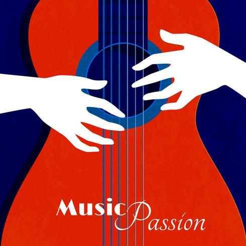 Poster della passione musicale vettore